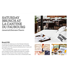 Saturday Brunch at La Cantine Du Faubourg